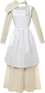 Pioneer Costume Dress Womens American Historical Clothing Modest Prairie Colonial Dress