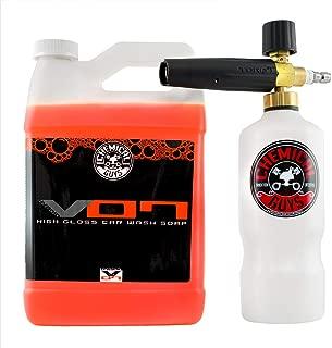 Chemical Guys EQP318 Torq Professional Foam Cannon and Hybrid V7 Auto Wash (1 Gal), 128 fl. oz.