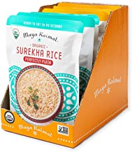 Maya Kaimal Fine Indian Foods Maya Kaimal Organic Indian Surekha Rice Perfectly Plain & Turmeric + Cumin Variety Pack, 8.5 Oz (Pack Of 6), Vegan, Microwavable, Ready To Eat. Fully Cooked., 6Count