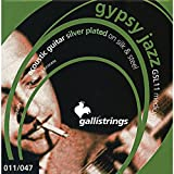 Galli Strings GSL11 GYPSY JAZZ Silver Plated Silk And Steel Medium Acoustic Guitar Strings