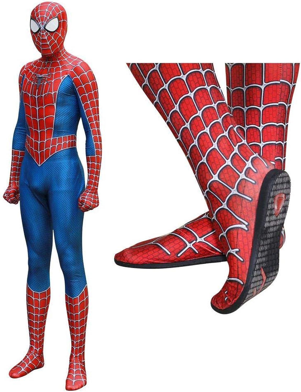 BLL SpiderManCosplayStrumpfhose mit Maske, HalloweenErwachsenenRollenspielKostüm AXXL