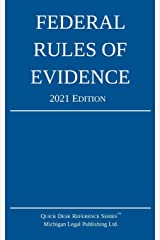 Federal Rules of Evidence; 2021 Edition: With Internal Cross-References Paperback