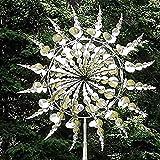 LEMOKIKI Windbetriebene kinetische Skulpturen, einzigartige und magische Metall-Windmühlen-Skulptur bewegt Sich mit dem Wind, Wind-Kinetische Oktopus-Tentakel-Stil-Metall-Windmühle, Solar (A)