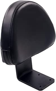 Black Leather Rear Passenger Backrest Sissy Bar Pad for Victory High-Ball Vegas Kingpin