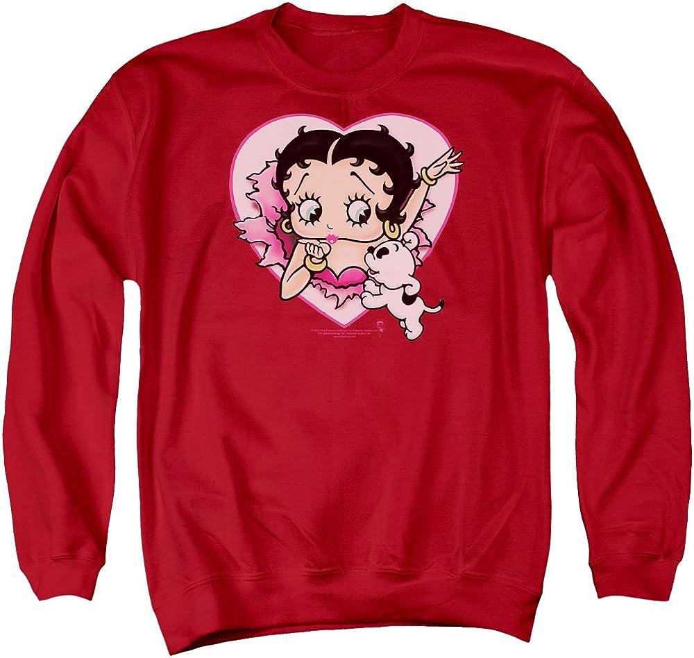 Betty Boop I Max 80% OFF Love Unisex Sweatshirt Men for Crewneck Adult Max 49% OFF