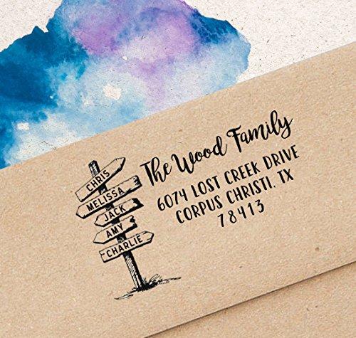 Printtoo-Familien-Feiertags Selbstfärber Adresse Stamp Weihnachtsgeschenk Designer Stempel