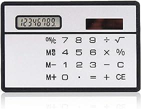 $43 » Calculator 1PCs Mini Calculator Ultra Thin Credit Card Sized 8-Digit Portable Solar Powered Pocket Calculators Office (Col...