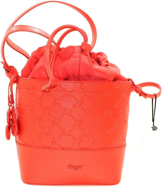 Blaugirl Tasche Modell Eimer Logo rot Anhänger bg rot rot rot Verschluss B07D18X14Q e77040