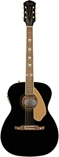 Fender Tim Armstrong 10th Anniversary Hellcat Acoustic Guitar, Walnut Fingerboard, Black