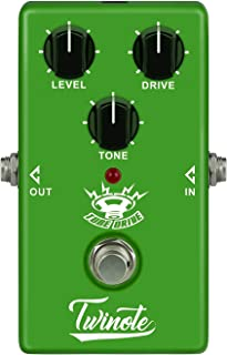 Twinote Guitar pedal Overdrive Warm and Nature Tube overdrive sound Effects Pedal for Electric Guitar, Exclude Power Adapter