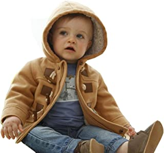 D-Sun Toddler Baby Boys Warm Winter Hoodies Trench Coats Jacket Outwear Clothes