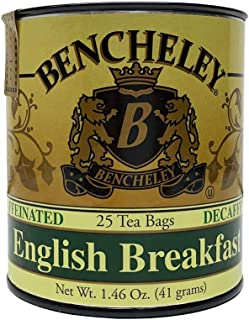 Bencheley Tea Bags, English Breakfast Decaf, 25 count