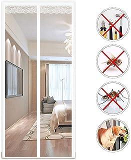 LHXFAN Mosquitera magnética para puerta, Mosquitera Puerta 70X200CM,Protección contra insectos Cortina para Puertas de Sala de Estar la Puerta del Balcón - Blanco