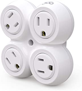 360 Electrical 36031 Revolve Basic 4 Rotating Adapter multi-outlet white