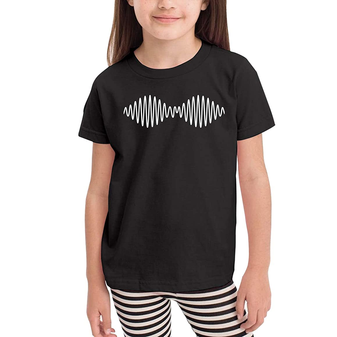 Kaddias Arctic Monkeys Infant Kids Cute Short Sleeve Tshirt Black