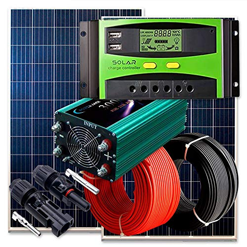 Solarkit 1500W Solarpanel Photovoltaik-Anlage polykristallin 36Zellen