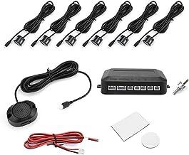 $21 » New 4 Parking Sensors Car Reverse Backup Radar System Car Parking Sensor Reversing Radar Kit Warning Sound Indicator Probe...