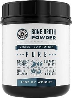 Bone Broth Protein Powder Pure Grass Fed Beef - Unflavored. Rich in Collagen, Glucosamine & Gelatin, Paleo Protein Powder,...