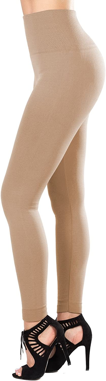 SATINA Super Soft Leggings High Waist Compression Slimming Warm Opaque Tights