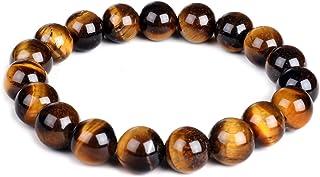 comprar comparacion Pulsera elástica de ojo de tigre, 10 mm, piedras preciosas curativas para yoga, para hombres y mujeres