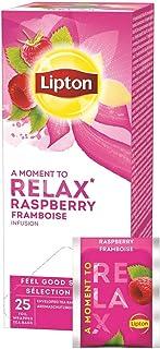 Lipton Früchtetee Hagebutte Himbeere fruchtig und herb mit Hibiskusblüten, 3er Pack 3 x 25 Teebeutel