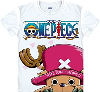 One Piece Luffy Chopper T-Shirt Cartoon Anime Silk Men's/Women's Cosplay T-Shirt