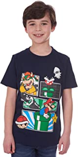 Nintendo Boys' Super Mario Characters T-Shirt, Tees for Kids, Little Boys and Big Boys Navy