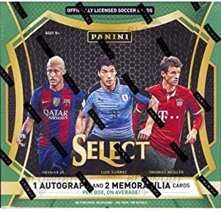 2016 17 Panini Select Soccer Hobby Box 1 Autograph, 2 Mem,12 Prizms, Pulisic RC - Panini Certified - Unsigned Soccer Cards