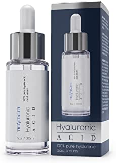 Tru Vitaliti- 100% Pure Hyaluronic Acid Serum-Locks in Moisture, Reduces Inflammation, and Defends Skin From Environment's Harmful Effects- Achieve Soft, Supple, Hydrated Skin