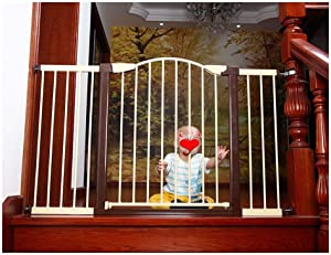 Punch-Free  Extended Child Safety Door Fence with 20cm  7 87in  30cm  11 8in  Extension Combination  Gravity Sensing Automatically Closes The Safety Barrier  Color 127cm-131cm