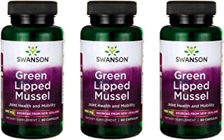 Swanson Green Lipped Mussel 500 mg 60 Caps 3 Pack