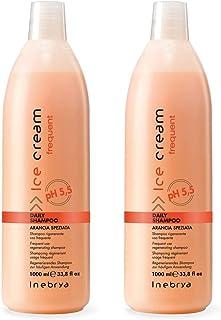 2 Pezzi - Inebrya Daily Shampoo Rigenerante Uso Frequente - Arancia Speziata - 1000 ml