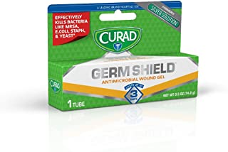 GermShield Antimicrobial Silver Wound Gel 0.5 ounces (Pack of 3), for topical cuts, wounds, diabetic sores, MRSA, bacteria...