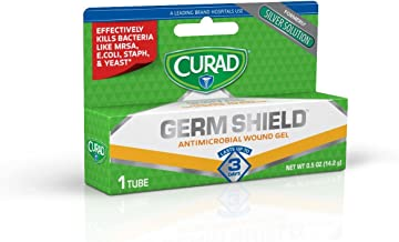GermShield Antimicrobial Silver Wound Gel 0.5 ounces (Pack of 3), for topical cuts, wounds, diabetic sores, MRSA, bacteria, fungus, yeast