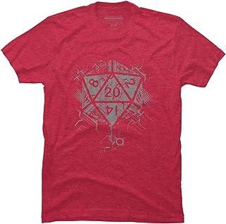 Design By Humans D20 of Power Men`s Graphic T Shirt