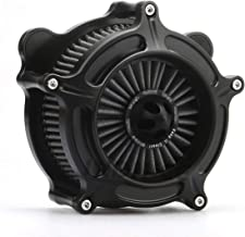 Motorcycle Turbine Air filter Cleaner intake filter For Harley Softail 93-15,01-07 DYNA TOURING Black filter