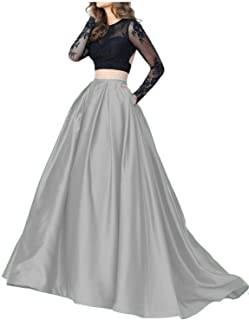 Cutiebridal Illusion Lace Two Piece Prom Evening Cocktail Dress with Sleeves CU016
