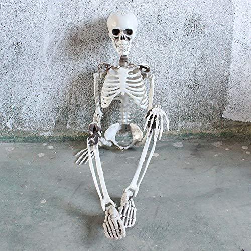 LLQZX Halloween Skeleton Modell, Horror Plastik Simulation Skeleton Modell Dry Corpse Form Geeignet Für Secret Room Set Halloween Party Requisiten Bühnenperformance, 3 Stile,170cm