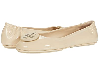 Tory Burch Minnie Travel Ballet w/ Leather Logo (Dulce De Leche/Dulce De Leche Patent) Women