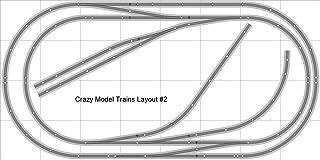 Train Layout #002 DCC Bachmann HO EZ Track (NS) Nickel Silver - 4` X 8` New - Train Set BAC-HO-GR-L002D