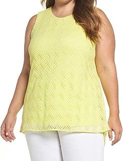 Womens Plus Lace Herringbone Pullover Top