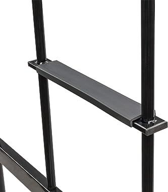 Bonnlo Metal Twin Loft Bed for Kids Space Saver Bed Frame, Black