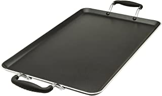 "Ecolution EABK-3218 Non-Stick Double Burner Griddle 12"" x 18"", Dishwasher Safe, Silicone Handles, Specialty Cookware for Family, Griddle-12 x 18 Inches"