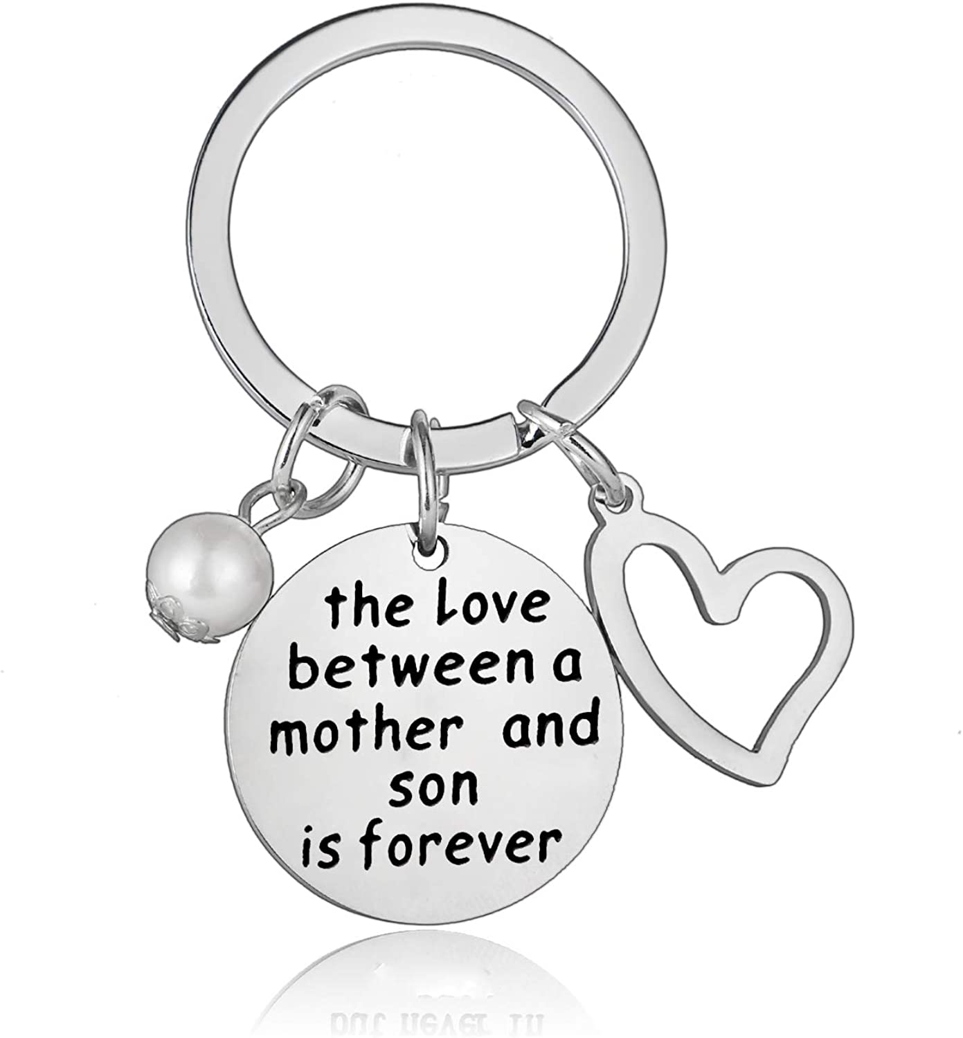 Mom Gifts Mother Keychain From Son Mother and Son Gifts Mothers Day Gifts Christmas Keyring Family Keychain Birthday Gift (Mother Son)