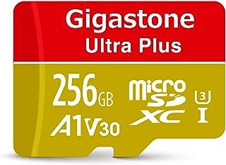 【5年保証 】Gigastone 256GB マイクロSDカード A1 V30 Ultra HD 4K ビデオ録画 高速4Kゲーム Nintendo Switch 動作確認済 100MB/s マイクロ SDXC UHS-I U3 C10 Class 10 micro sd カード SD変換アダプタ付