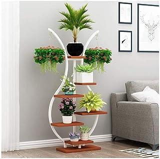 Home Equipment Flower shelf new multi layer indoor balcony floor standing household wrought iron hanging green radish rack...