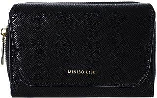 Metal Textured Women's Wallet with Zipper(Black)