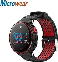 Microwear X2 Plus Fitness Monitor Pedometer Sport Smart Bluetooth Watch Bracelet - Red