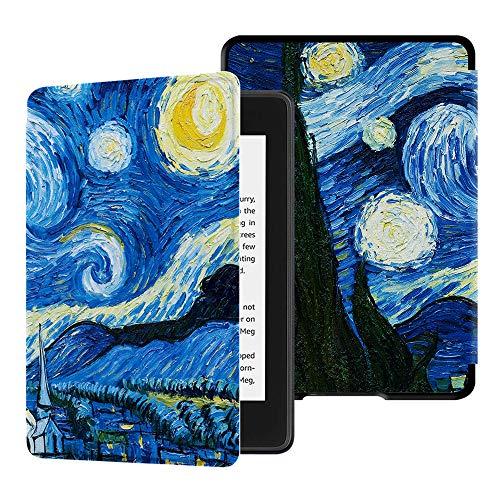 HUASIRU Pittura Custodia Copertura per Kindle Paperwhite (10ª Generazione - Modello 2018 Solo), Cielo Stellato