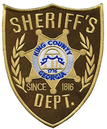The Walking Dead King's County Sheriff's Dept bestickter Aufnäher zum Aufnähen oder Aufbügeln, 10 cm